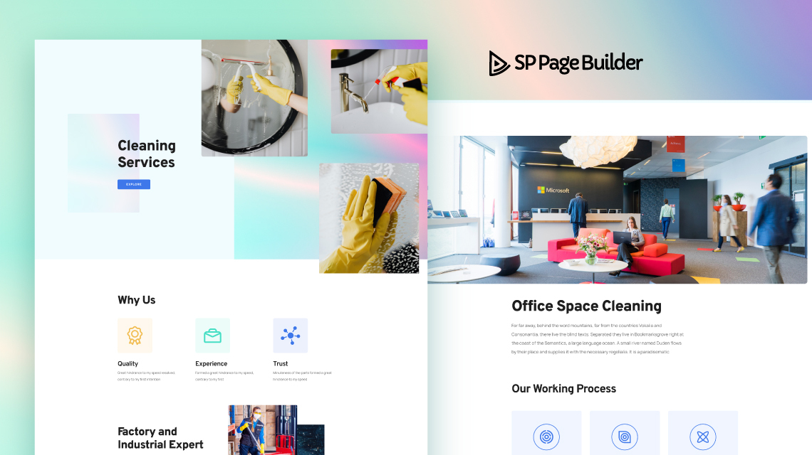 Introducing Cleaning Service - A Free Layout Bundle for SP Page Builder Pro