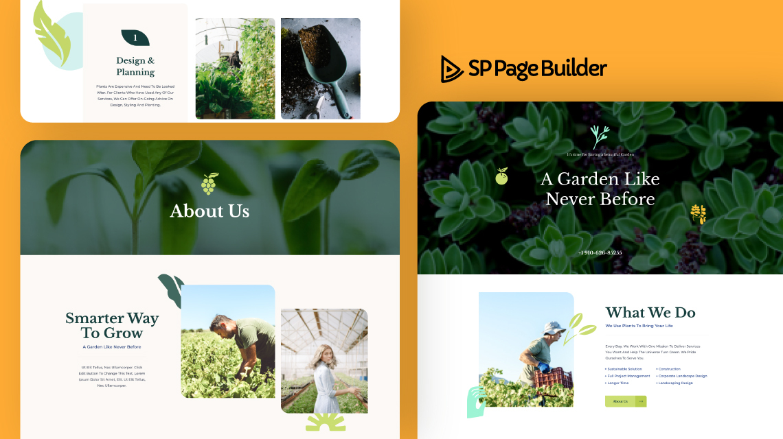 Introducing Landscaping- A Free Layout Bundle for SP Page Builder Pro