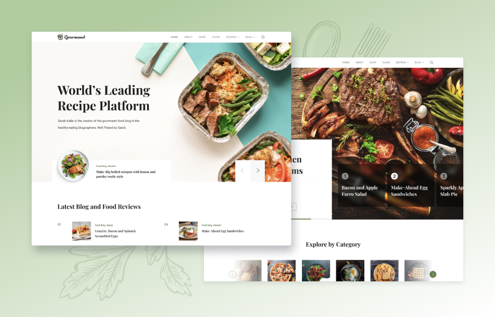 Introducing Gourmand: A Food Blog and Recipe Joomla Template for You