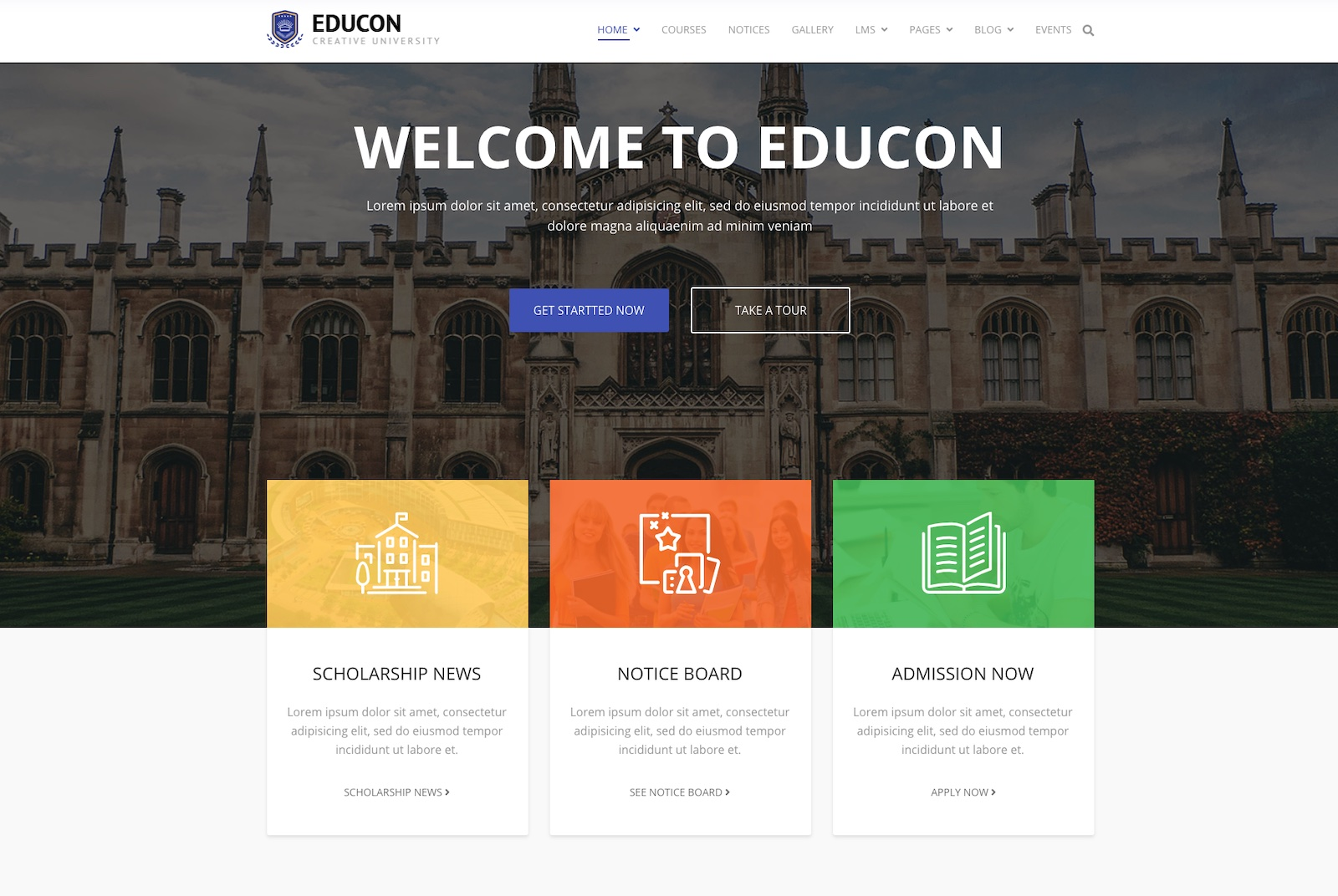 Educon joomla template