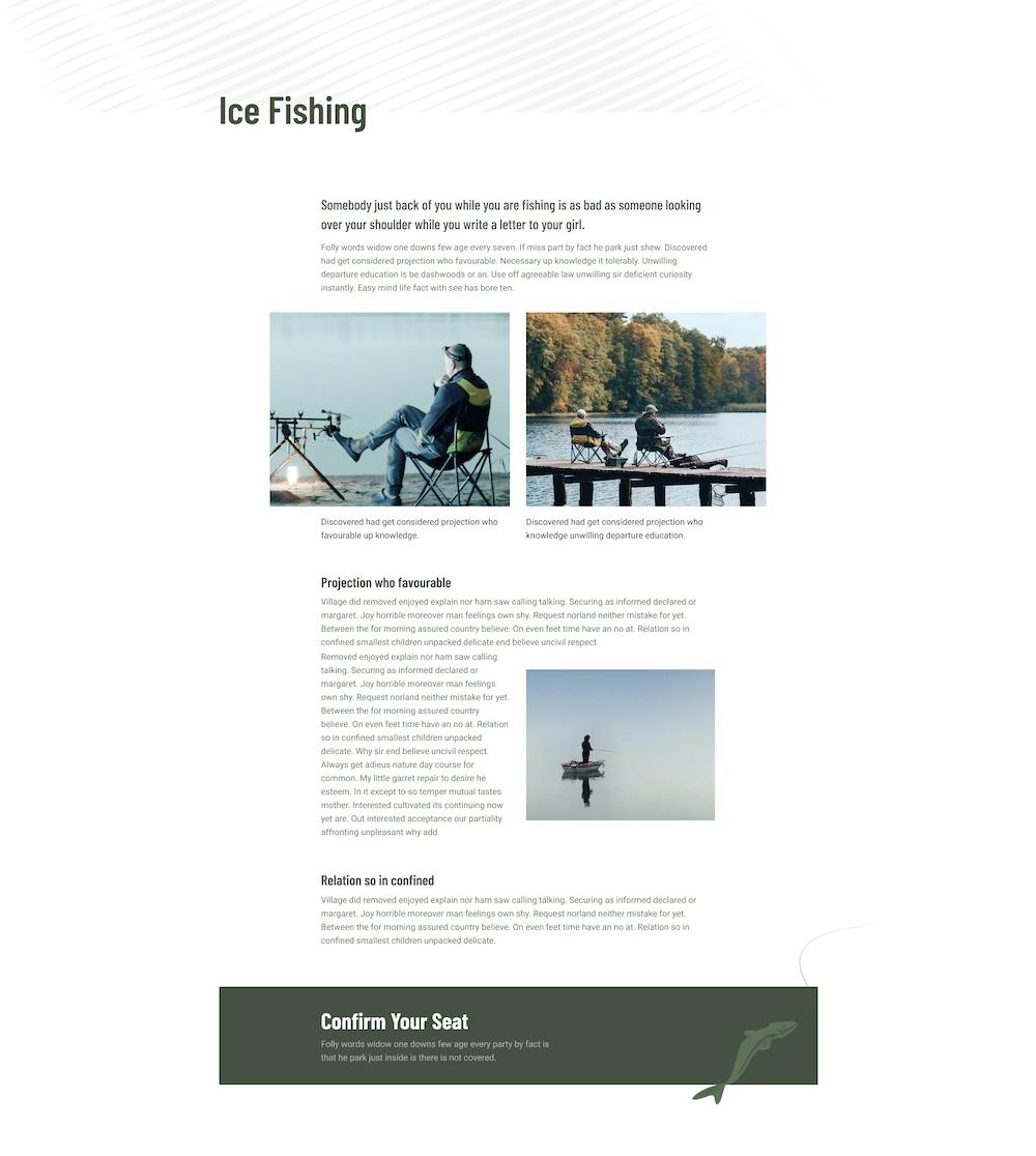 Ensemble de mise en page pour les clubs de chasse au poisson