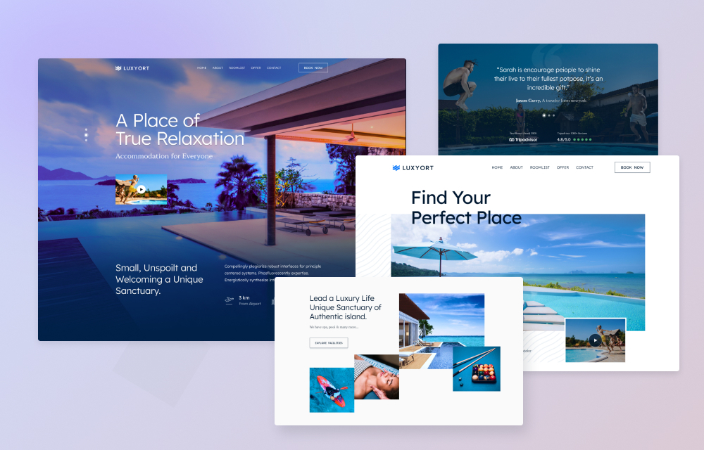 Introducing Luxyort: A Resort and Holiday Destination Joomla Template For You
