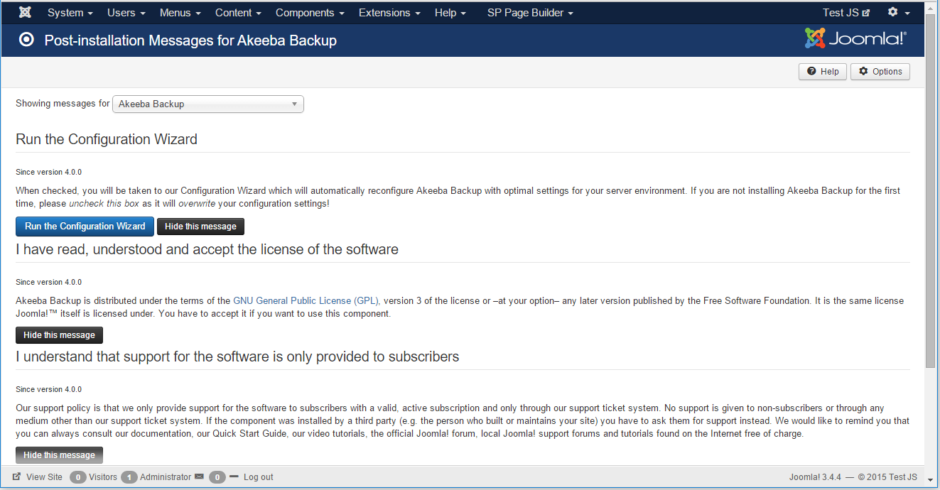 msgs-akeeba Dumitru Butucel - Backup and restore your Joomla site with Akeeba Backup