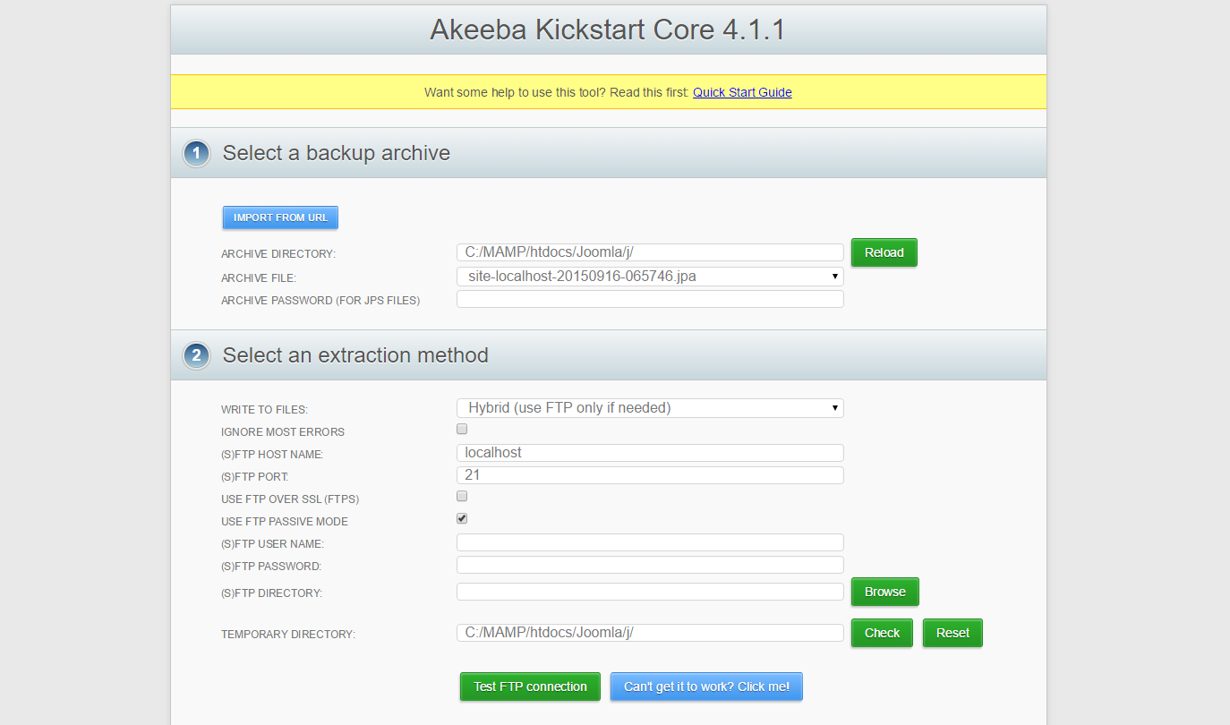kickstart Dumitru Butucel - Tips and Tricks - Backup and restore your Joomla site with Akeeba Backup