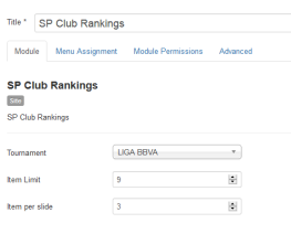 Club Rankings Module (Admin)