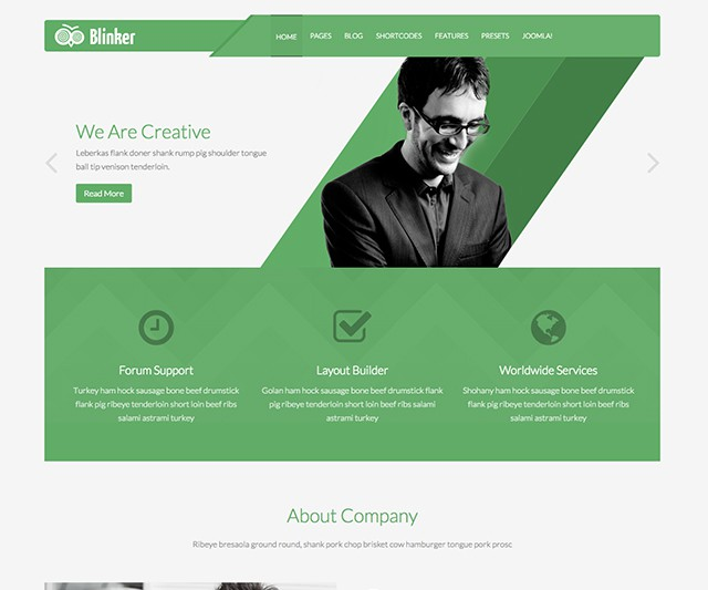 Shaper Blinker - Creative Multipurpose Joomla Template