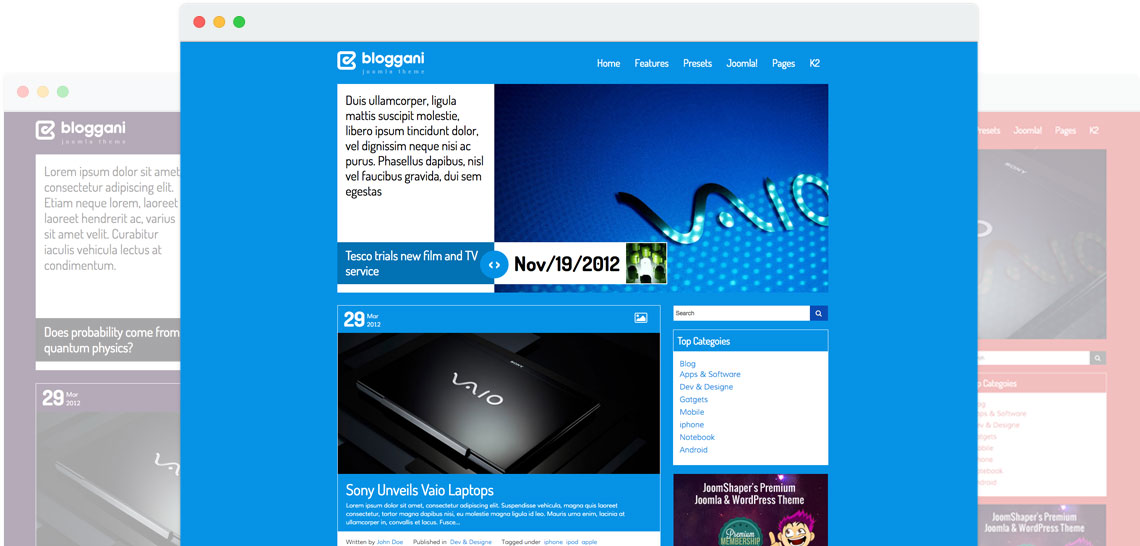 Shaper Bloggani - Joomla Blog Template