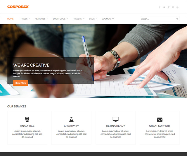Shaper Corporex - Agency & Business Joomla Template