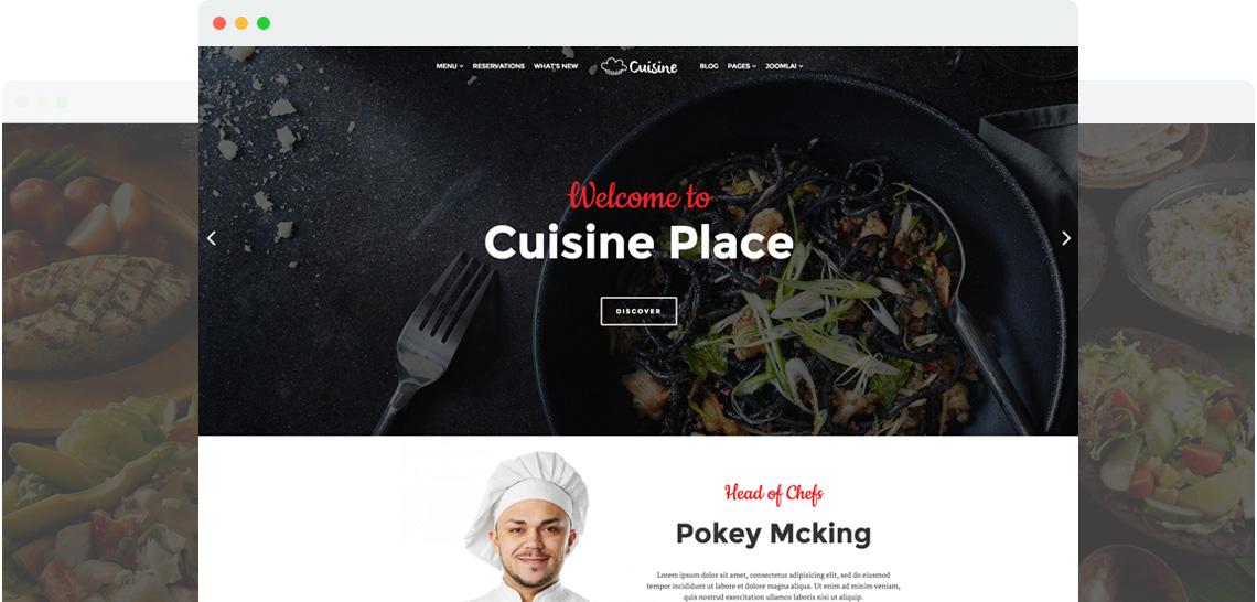 Shaper Cuisine for Joomla 3 响应式网站前台模板
