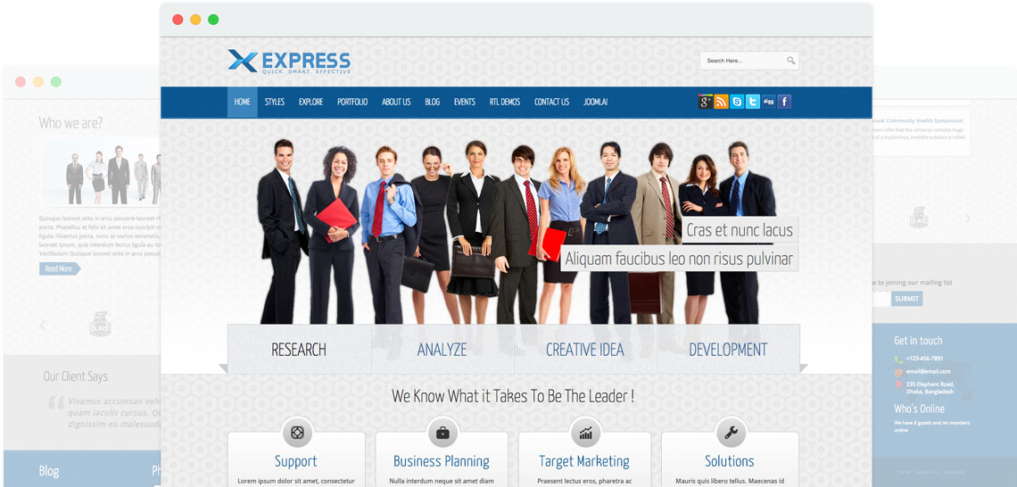 Shaper Express - Responsive Joomla Business Template