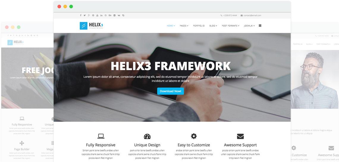 Helix Joomla template