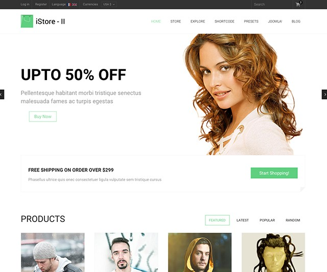 Shaper iStore II - Multi-Purpose eCommerce Virtuemart Template