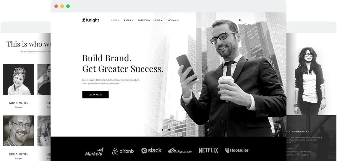 Shaper Knight for Joomla 3 网站前台响应式模板