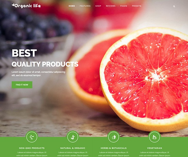 Shaper Organic Life - Eco-Friendly Businesses & e-Commerce Joomla Template
