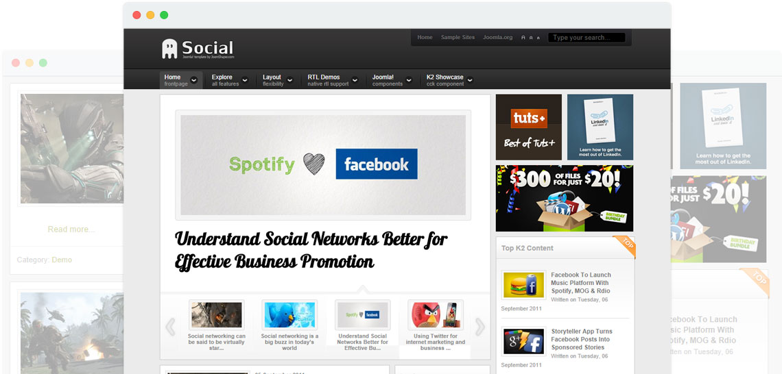 Shaper Social - Social Networking Joomla Template