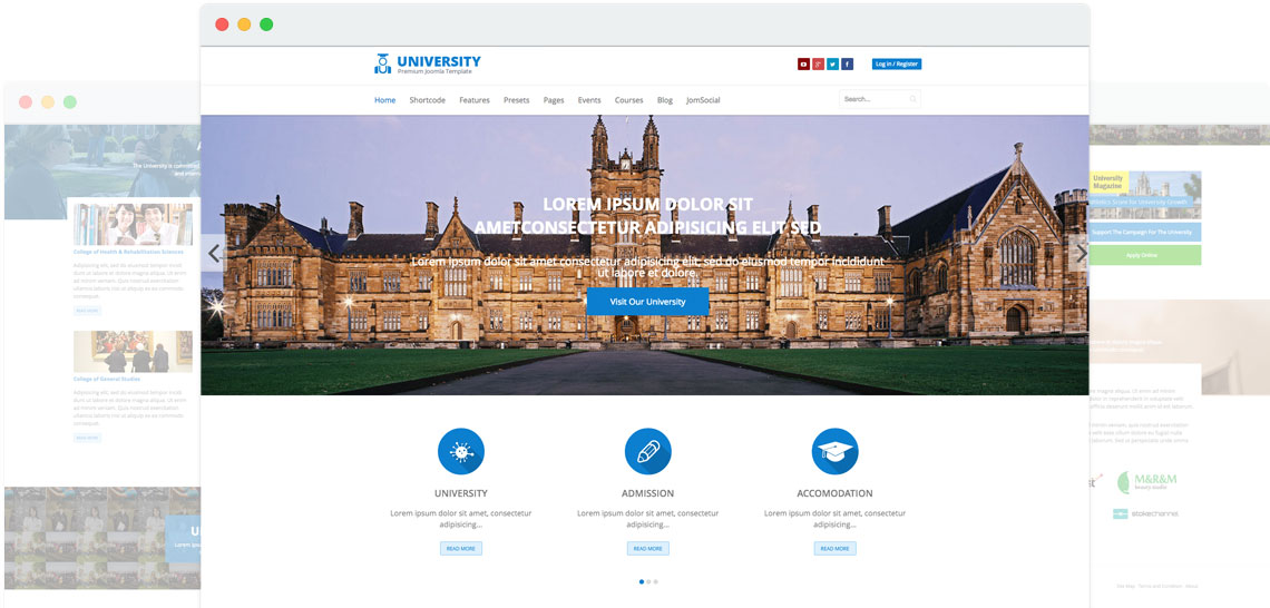 Shaper University - Education/College Joomla Template