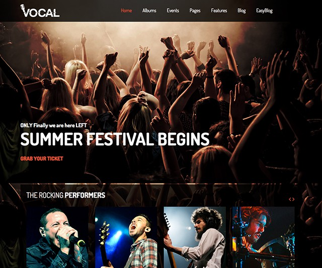 Shaper Vocal - Music Events & Dance and Night Club Joomla Template